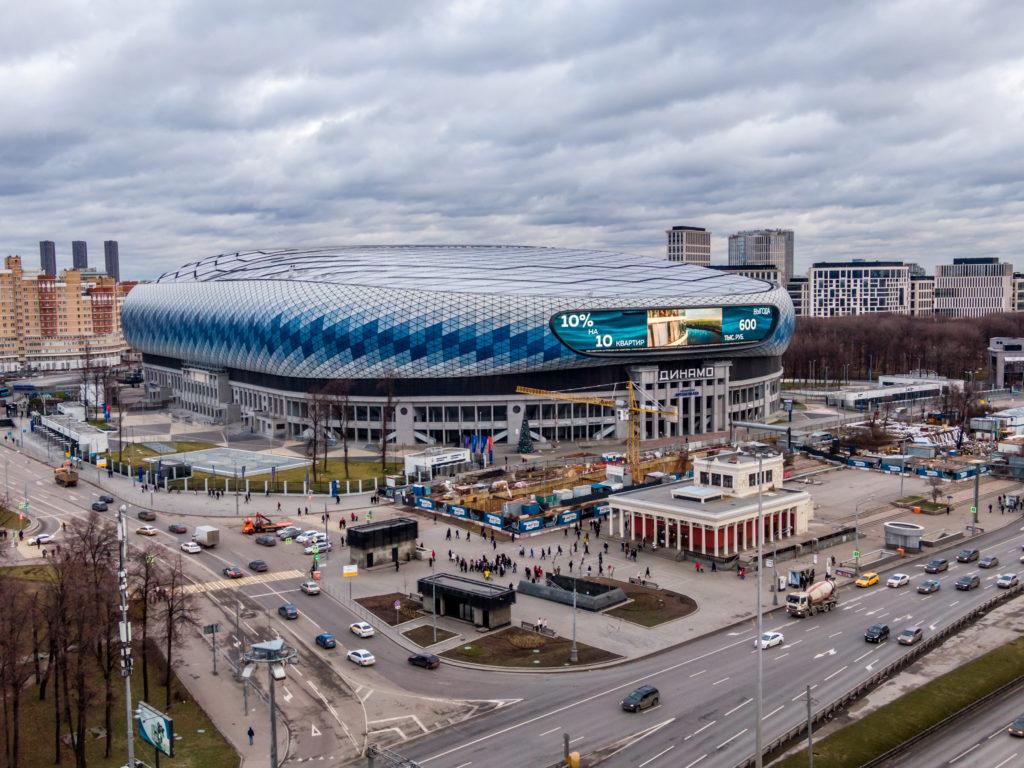 "Реклама на медиафасаде стадиона ""ВТБ Арена"""