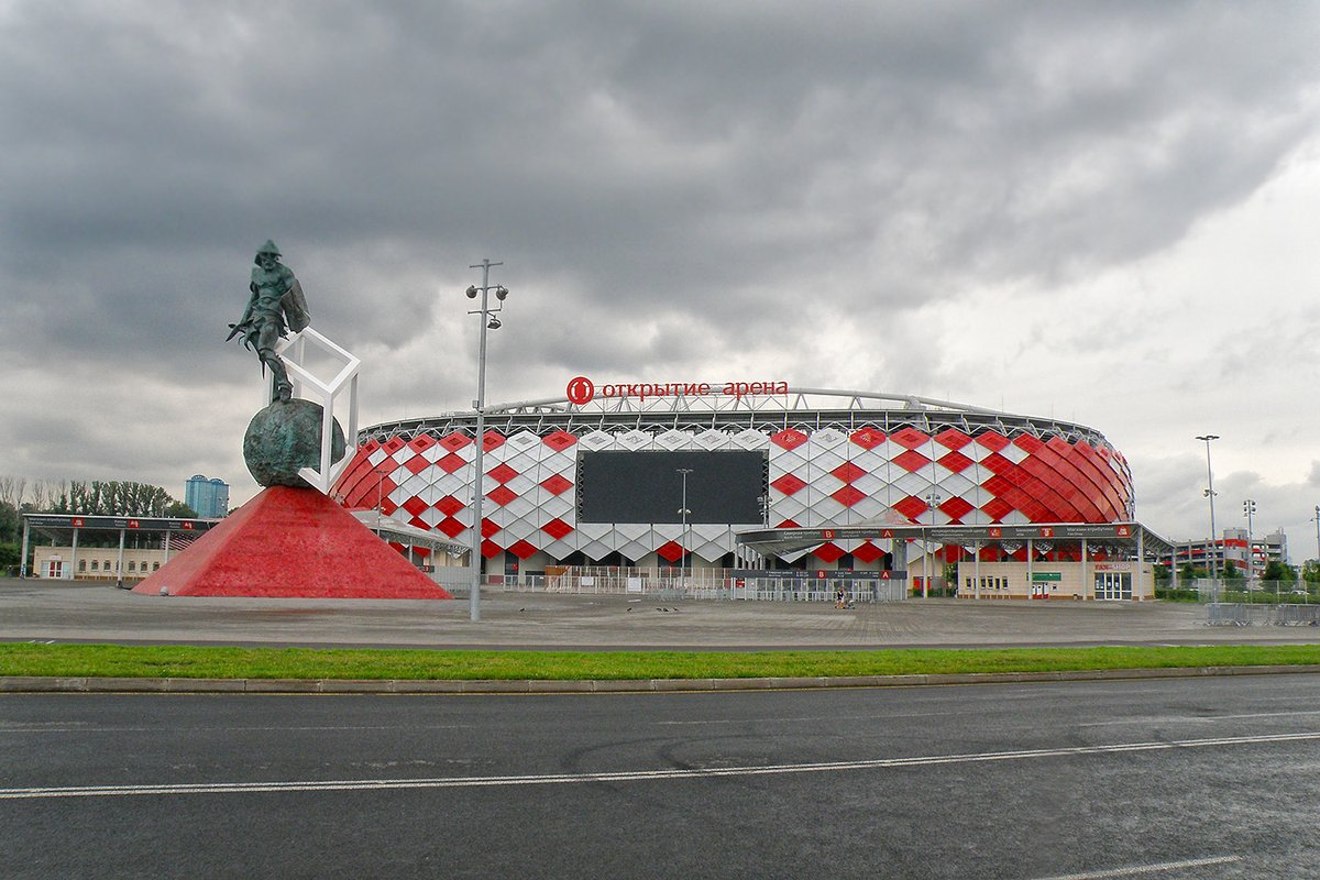 "Реклама на медиафасаде стадиона ""Открытие Арена"""