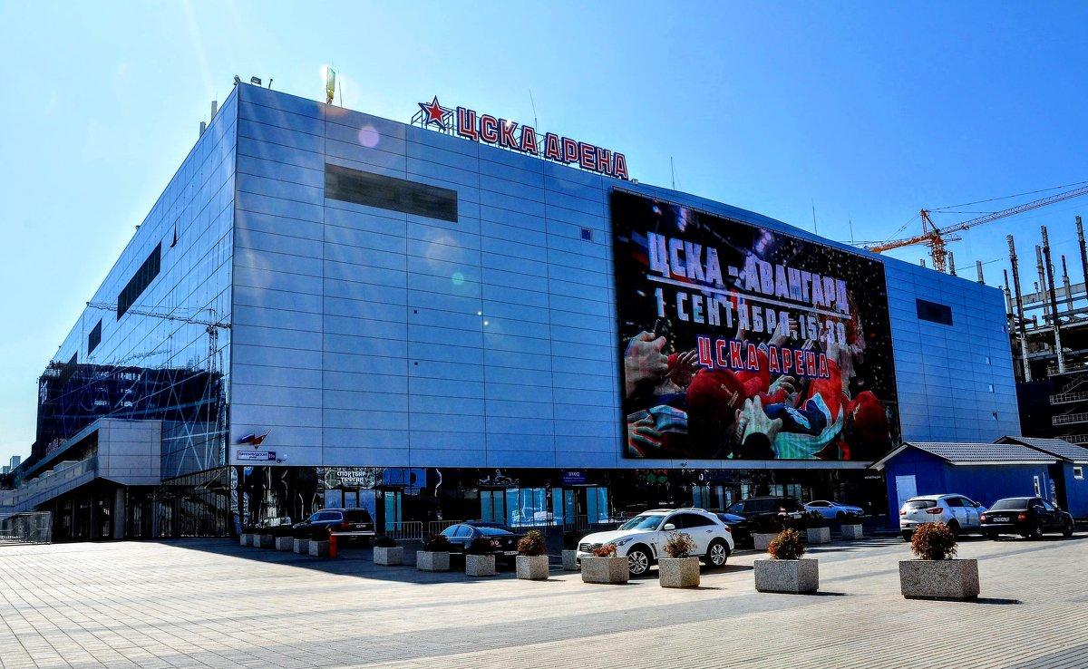 """Реклама на медиафасаде стадиона """"ЦСКА Арена"""""""