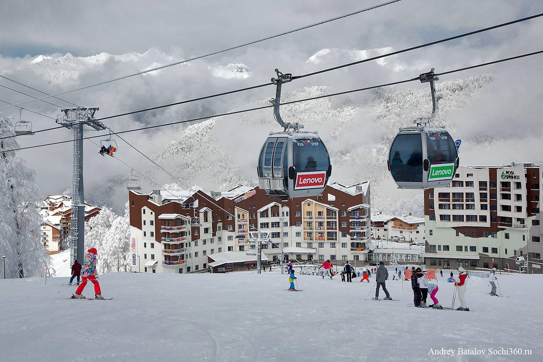 Наружная реклама на горнолыжном курорте Роза Хутор